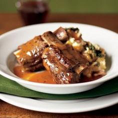 Stout-Braised Short Ribs - one of many Williams Sonoma slow cooker ideas.