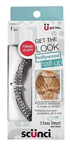 Scunci Hollywood Half Up Roll Silver * Continue to the product at the image link.(This is an Amazon affiliate link)