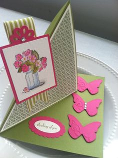 InkyPinkies: ON THE GROW - ANGLED EASEL CARD