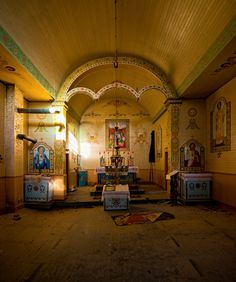 This derelict Ukrainian church on the Saskatchewan plains:   19 Terrifying But Gorgeous Abandoned Places In Canada