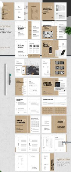 Proposal and Portfolio TemplateMinimal and Professional Proposal Brochure templa… - My Design Ideas 2019 Design Brochure, Identity Design, Brochure Template, Brochure Layout, Portfolio Design Layouts, Portfolio Format, Template Portfolio, Graphic Design Portfolios, Indesign Portfolio