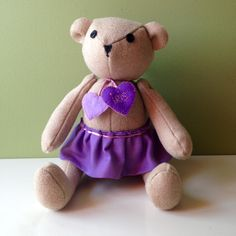 """Iris"" Personalized Handmade Bear"