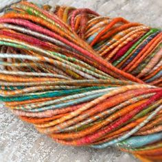 Hand spun yarn art yarn core spun yarn chunky by SilkWoolTouch Art Yarn, Hand Spinning, Core, My Etsy Shop, Unique Jewelry, Handmade Gifts, Crafts, Vintage, Kid Craft Gifts