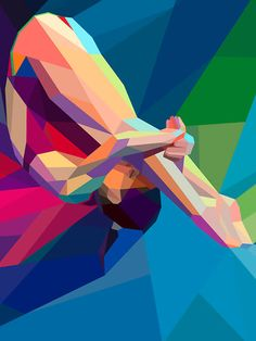 Olympic-themed illustrations by Charis Tsevis