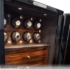 Brown Watch Safe with Orbita Winders #Watches #WatchAccessories #chronoswiss