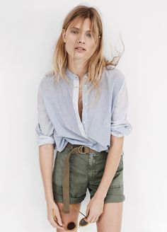 I love these army green shorts for Spring! #everydaymadewell
