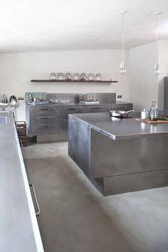 Professional stainless steel kitchen EGO by ABIMIS by PRISMA | design Alberto Torsello