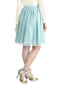 Fanciful of Charm Skirt in Mint, #ModCloth