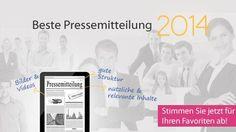 """Stimmen Sie für die beste Online-Pressemitteilung 2014 ab. Mein Text """"Bewerbermanagement-Software coveto erleichtert das Recruiting"""" ist nominiert!"""