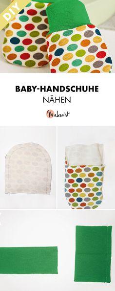 Baby-Handschuhe selber nähen - gratis Nähanleitung via Makerist.de