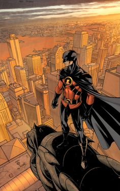 Tim Drake is a vigilante and member of the Batman Family. He became the third Robin at a young age, succeeding Jason Todd as Batman's sidekick. Eventually he would outgrow this position and begin wearing the costume of Red Robin when he's replaced by Damian Wayne.