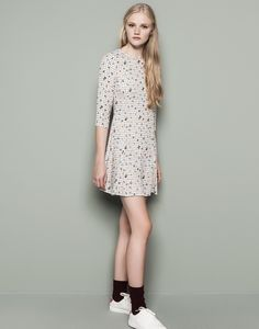 LONG-SLEEVED PRINT DRESS - NEW PRODUCTS - WOMAN - PULL&BEAR - £25.99
