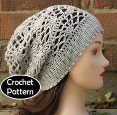 7aca836b1a4 CROCHET HAT PATTERN Instant Download - Arachne Slouchy Beanie Hat Lacy Teen  Women Fall Winter - Permission to Sell English Only