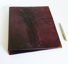 Large enough to store many paper records, music sheets, drawing sketches, documents. You also can make a great photo album, using any type of paper you wish. Ring Binder Folders, 4 Ring Binder, Leather Gifts, Leather Books, Handmade Leather, Leather Jewelry, Leather Folder, Leather Photo Albums, Perfect Gift For Him