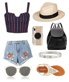 """""""Summer"""" by sabrinawimer on Polyvore featuring House of Holland, 3x1, Olivia Miller, Roxy, Cartier, Witchery, Kate Spade and Christian Dior"""