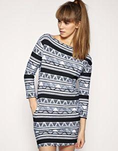 american apparel afrika print dress
