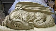 sleeping dragon pictures images | Sale! Large Cement Sleeping Dragon Outdoor Sculpture