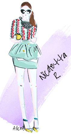 UN GRAZIE SPECIALE A TUTTE VOI - disegni #fashionblogger
