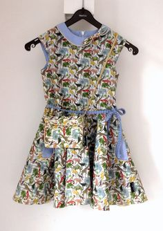 Ileana dress from Compagnie M made by Stannel.  Fabric:  Queue for the zoo from Liberty of London from Bambiblauw