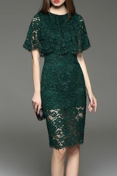 elegant lace capelet dress