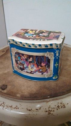 Super Cool Vintage Walt Disney Hinged Tin Box by CollectorsAgency, $7.95