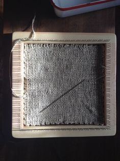 "Wash Cloth made on a 12"" pin loom"