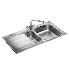 SHOP the Rangemaster Glendale Bowl Stainless Steel Kitchen Sink at Victorian Plumbing UK Kitchen Sink Bowl, Bowl Sink, Kitchen Taps, Stainless Steel Taps, Inset Sink, Steel Gauge, Elegant Kitchens, Cleaning, Kitchen Ideas