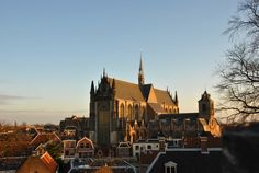Pieterskerk in Leiden - Leiden is a picturesque city in the South Holland province and the birthplace of master painter Rembrandt van Rijn.
