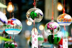 It would be a great idea if you will buy some special souvenirs! Feel Japan's musical sound of the wind with this Japanese wind chimes or furin anytime, anywhere. You'll surely remember your Japan travel experience. Japanese Wind Chimes, Japanese Shrine, Japan Info, Cherry Blossom Season, Aesthetic Themes, Japan Art, Japanese Culture, Handmade Wooden, Christmas Bulbs