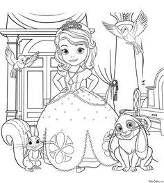 Раскраска Принцесса Дисней София