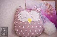 Owl Pillow  100% handmade by Owl with Soul