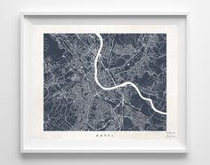Basel Street Map Print