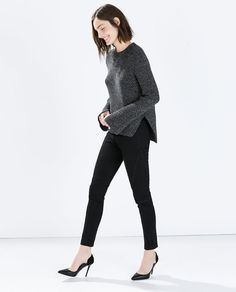 ZARA - WOMAN - SEAMED SATIN TROUSERS WITH BELT
