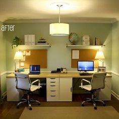 Modern Home Office For Two great double office desk interior design beautiful home office
