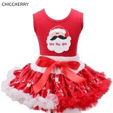 Santa Claus Christmas Costumes for Children Kids Clothes Sets Tops Lace Tutu Skirts Toddler Girl Clothing Girls Christmas Outfit(China (Mainland))