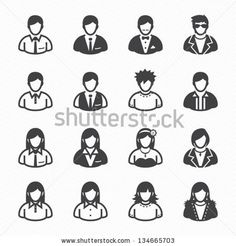 User Icons and People Icons with White Background by pking4th, via Shutterstock