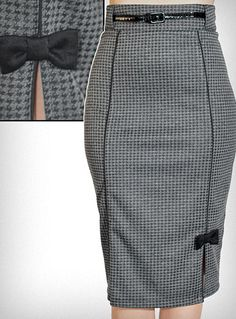 Hot for Houndstooth Pencil Skirt at Plasticland. $54.00  So freaking cute.