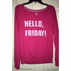 Long sleeve t-shirt Long sleeve pink t-shirt in perfect condition, worn only few times. Used for nightwear. SO Tops Tees - Long Sleeve