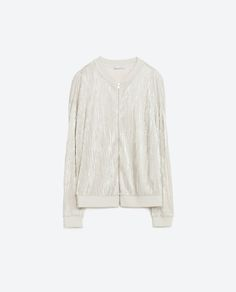 Image 6 of FINE PLEATED METALLIC BOMBER JACKET from Zara