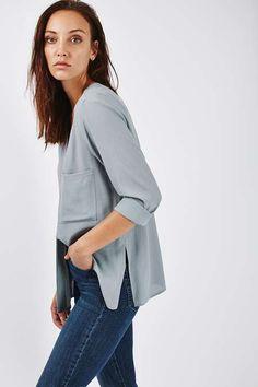 PETITE Slouchy Shirt - Topshop