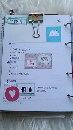 Paper and Needle: Weekly planner refill A5 free