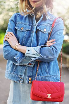 Double Denim And Chanel Streetstyle