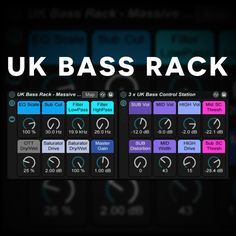 FREE UK Bass Rack for Ableton Live. Requires NI Massive & Operator to function completely. #ableton