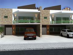 Fachadas de casas geminadas e modernas fotos | Decorando Casas