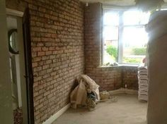 Front room ready to plaster