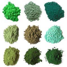 Green pigments.