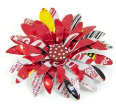Aluminum Can Flowers | Aluminum Can Crafts / Tin Can Flower with directions