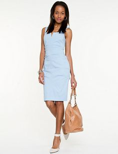 v neck dress V Neck Dress, Baby Blue, Dresses For Work, Blues, Wedding, Shopping, Style, Fashion, Valentines Day Weddings