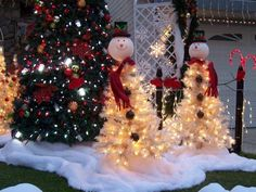 our snowman christmas trees made with a 3 foot white christmas tree - 3 Foot White Christmas Tree