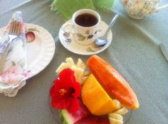 Fresh Fruit tea   Pictures of Polkerris - Bed and Breakfast Photos Fruit Tea, Fresh Fruit, Breakfast Photo, Cantaloupe, Pictures, Photos, Bed, Ethnic Recipes, Stream Bed